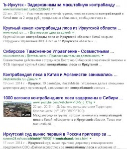 Картина маслом — контрабанда леса в Иркутской области