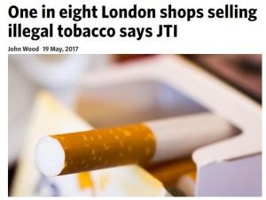 Каждый восьмой магазин в Лондоне торгует контрабандными сигаретами